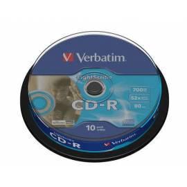 Service Manual Datenträger CD-R VERBATIM DLP 700MB / 80min, 52 X, LightScribe, 10-Kuchen
