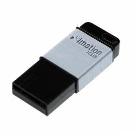 PDF-Handbuch downloadenUSB-flash-Laufwerk IMATION Atom 8 GB USB 2.0 (i23795) schwarz/silber