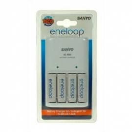 Bedienungshandbuch Mignon Batterien Sanyo MQN04 + 4 x AA Akkus ENELOOP zu laden