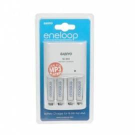 Service Manual Mignon Batterien Sanyo MQN04 + 4 x AAA Akkus Eneloop zu laden