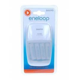 Benutzerhandbuch für Mignon Batterien Sanyo MQN09 + 4 x AA Akkus ENELOOP zu laden