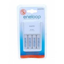 Mignon Batterien Sanyo MQR06 + 4 x AA Akkus ENELOOP zu laden