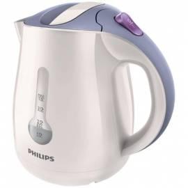 Benutzerhandbuch für PHILIPS Wasserkocher HD 4676/40 weiss/lila