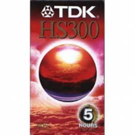 Benutzerhandbuch für Videokazeta TDK E-300HS