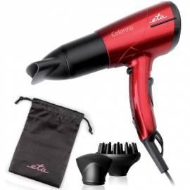 Datasheet Haar Trockner ETA Colorino 6312 + 2 Stück Haar Kosmetik schwarz/rot