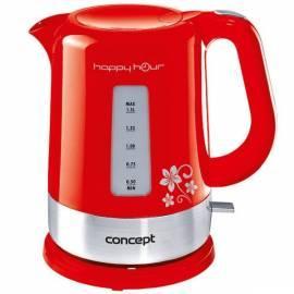 Datasheet Elektrische Wasserkocher Konzept Happy Hour RK-2030 (8594049736706) rot
