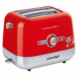 Bedienungshandbuch Toaster Konzept Happy Hour TE-2030 (8594049737338) rot