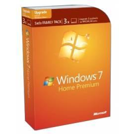 Software MICROSOFT Win 7 Home Prem Tschechische VUP DVD Family Pack (GFC-01644) Bedienungsanleitung