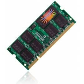 Datasheet Speichermodul TRANSCEND SODIMM DDR3 1 GB 1066 MHz CL7 (TS128M64V1U)