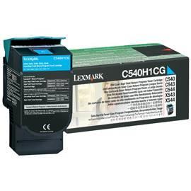 LEXMARK C540 Toner C543 C544 X 543 X 544 (C540H1CG) blau Gebrauchsanweisung