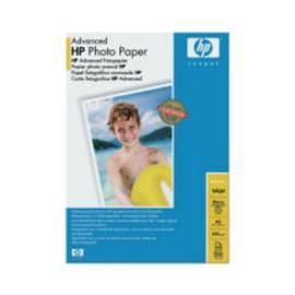 Handbuch für Papier für Drucker HP Advanced Glossy Photo Paper, A3, 20 ks, 250g/m2 (Q8697A)