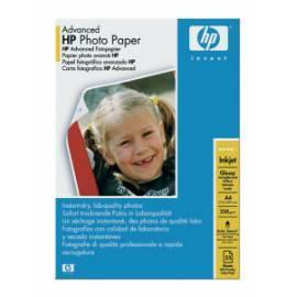 Benutzerhandbuch für Papier für Drucker HP Advenced Glossy Photo Paper, A4, 25ks, 250g/m2 (Q5456A)