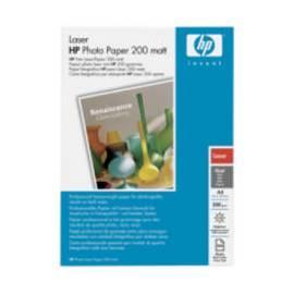 Papiere, Drucker HP Laser-Fotopapier, Matt, A4, 100 Blatt, 200 g/m2 (Q6550A) Gebrauchsanweisung