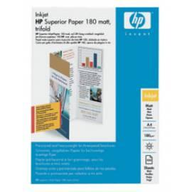 Handbuch für Papiere, Drucker HP Superior Inkjet Papier A4, mat, 180, 100, Trifold (Q6590A)