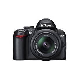 Reihe von Produkten von der NIKON D3000 + 18-55 II AF-S DX schwarz Gebrauchsanweisung
