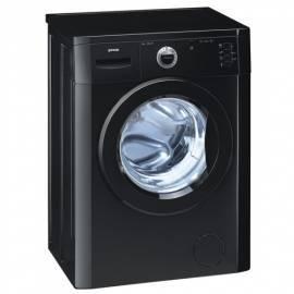 Waschvollautomat GORENJE Einfachheit WS 512 SYB-schwarz - Anleitung