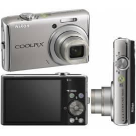 PDF-Handbuch downloadenKamera Nikon Coolpix silberne S620 (Silbrig glänzend)