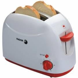 Toaster FAGOR TTE-755-Weiss/Orange Gebrauchsanweisung