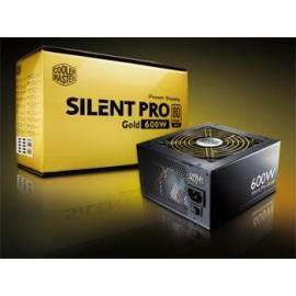 Benutzerhandbuch für Zdroj COOLER MASTER Silent Pro Gold aktiv 600W (RS600-80GAD3-EU)