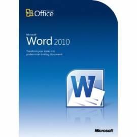 PDF-Handbuch downloadenSoftware MICROSOFT Word Home und Student 2010 32-Bit/X 64 Tschechische DVD (79F-00313)