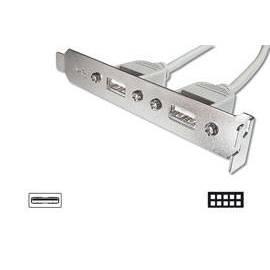 Handbuch für DIGITUS USB-Stecker-Slot mit 2 Anschlüsse + USB Kabel 2x5pin 0, 25 m