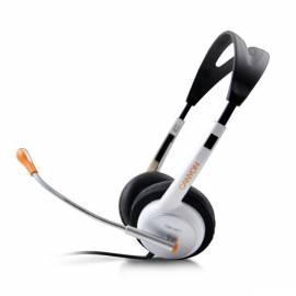 Headset CANYON CNR-HS11 20Hz - 20kHz, weiss-orange - Anleitung