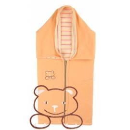Auto KAARSGAREN fleece Baumwolle mit Teddy Bär Orange