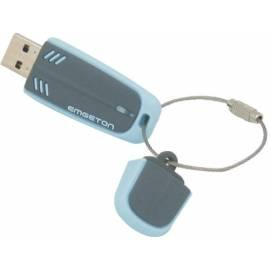 USB-flash-Laufwerk-8 GB-grau/blau EMGETON Aeromax Gebrauchsanweisung