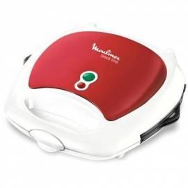 MOULINEX SW611533 Sandwichmaker Break Zeit weiß/rot Gebrauchsanweisung