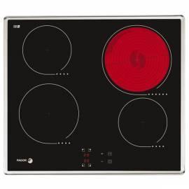 Handbuch für Keramik Glas Kochfläche FAGOR 2V-40 TX schwarz