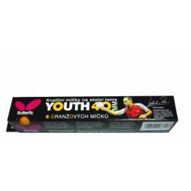 Schmetterling Tischtennisbälle, Jugend, Ausbildung von Orange