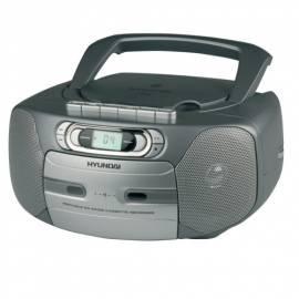 Bedienungsanleitung für Radiomagnetofon s CD HYUNDAI TRC 566A