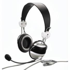Headset HAMA HS-10 Zebra schwarz (57157) Gebrauchsanweisung