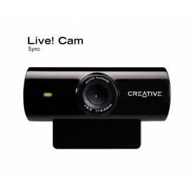 Bedienungsanleitung für Webcamera CREATIVE LABS Live! Cam Sync (73VF052000005)