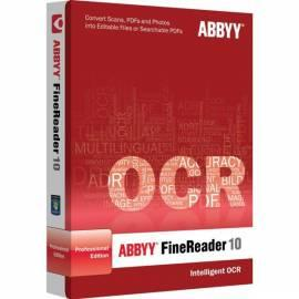 Software ABBYY FineReader 10 Home Edition CZE-BOX (AF10-8S1B01-9) - Anleitung