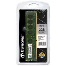 Bedienungshandbuch Speichermodul TRANSCEND DDR3 2 GB 1600 Mhz CL11 (JM1600KLN - 2G)