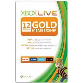 Datasheet Software MICROSOFT Xbox Gold Card XBOX 360 Live (52M-00150)