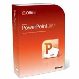 Software MICROSOFT PowerPoint Home und Stdnt 2010 32-Bit/X 64 Tschechische DVD (4CM-00371) Gebrauchsanweisung