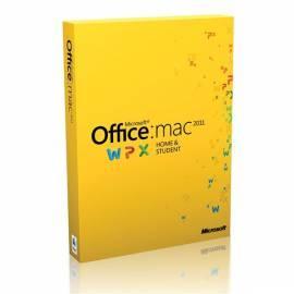 Bedienungshandbuch MICROSOFT Office pro Mac Home Student Softwarefamilie (W7F-00014)