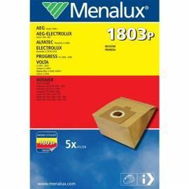 Taschen für Staubsauger MENALUX 1803p - Anleitung