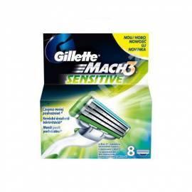 Service Manual GILLETTE zusätzliche Hlavice Gillette Mach 3 empfindliche 8 ks