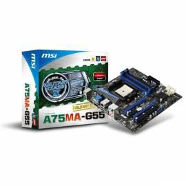 Motherboard MSI A75MA-G55 + A6 3650 Bedienungsanleitung