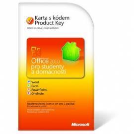 MICROSOFT Office Home und Student 2010 CZ + Verkauf mit der neuen HW Gebrauchsanweisung