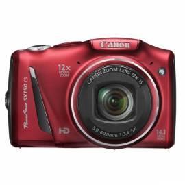 Digitalkamera CANON SX150 (5663B016AA) rot - Anleitung