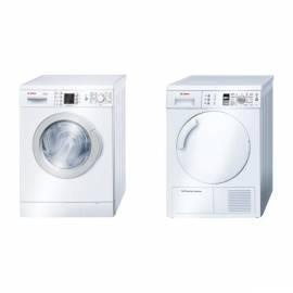 Set Bosch-Waschmaschine + Trockner WTW 28465BY WAE 84360BY - Anleitung