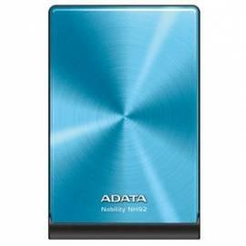 Datasheet Externen Festplatte A-DATA NH92 1 TB, USB 2.0 (ANH92-1TU-CBL) blau