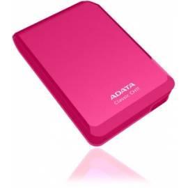 Bedienungsanleitung für externe Festplatte A-DATA 500 GB USB 3.0 Classic Serie CH11 (ACH11-500GU3-CPK) Rosa