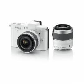 Digitalkamera NIKON 1 V1 + 10-30 VR VR 110 + 30-weiß Bedienungsanleitung