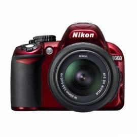 Bedienungsanleitung für Digitalkamera NIKON D3100 + 18-55 AF-S DX VR rot