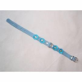 Bedienungshandbuch Halsband Wildleder Beatin 12mmx30cm mit Blumen, blau